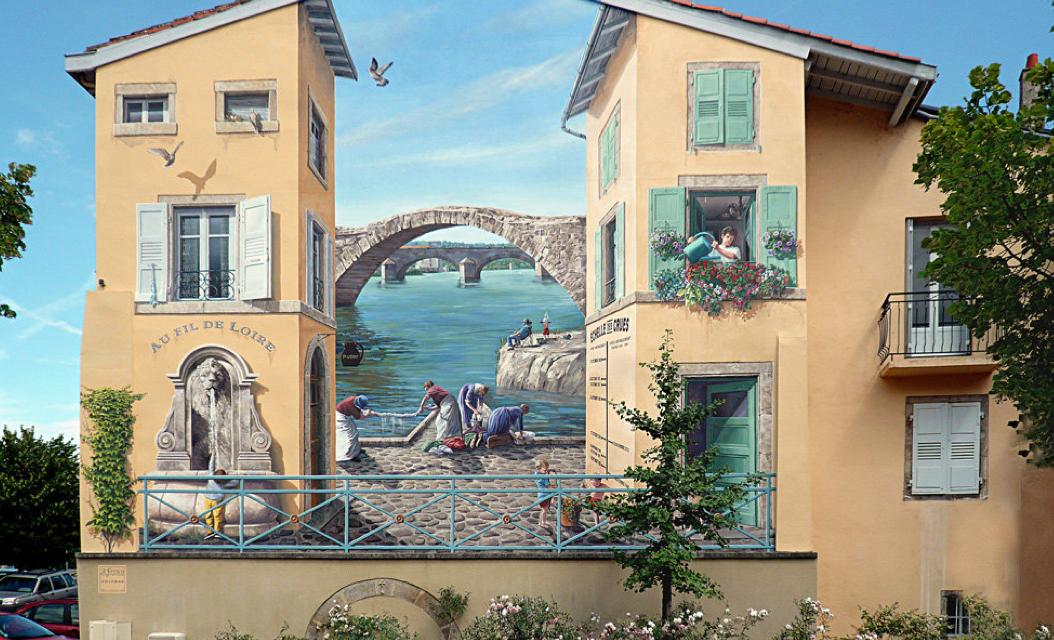 Παραμυθένιες γειτονιές που ζωντανεύουν με τον Γάλλο καλλιτέχνη