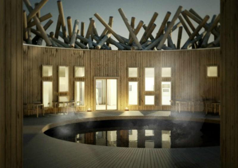 Εντυπωσιακό ξενοδοχείο στη Σουηδία πάνω σε ποταμό, με θέα το Βόρειο Σέλας