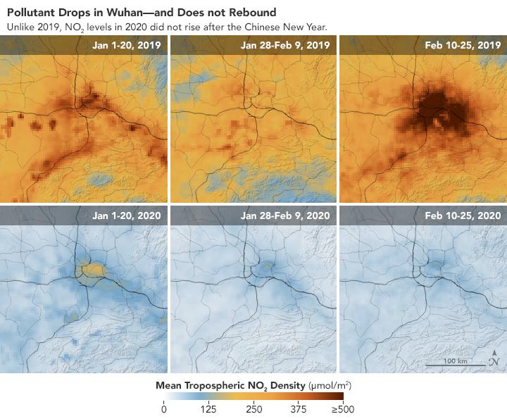 Μειώθηκε δραματικά η ατμοσφαιρική ρύπανση στην Κίνα, σύμφωνα με τη NASA - δες εικόνες