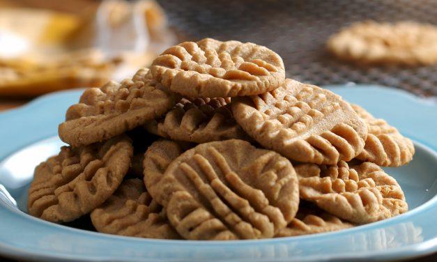 Μπισκότα χωρίς γλουτένη με φυστικοβούτυρο